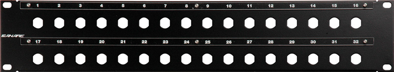 Canare 322U-DD 32 Point Unloaded Double D Patch Panel 322U-DD