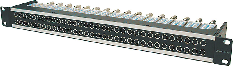 Canare 32MDS-ST-15RU 32-Point Mid-Size HD Straight Patchbay 2x32 1.5RU