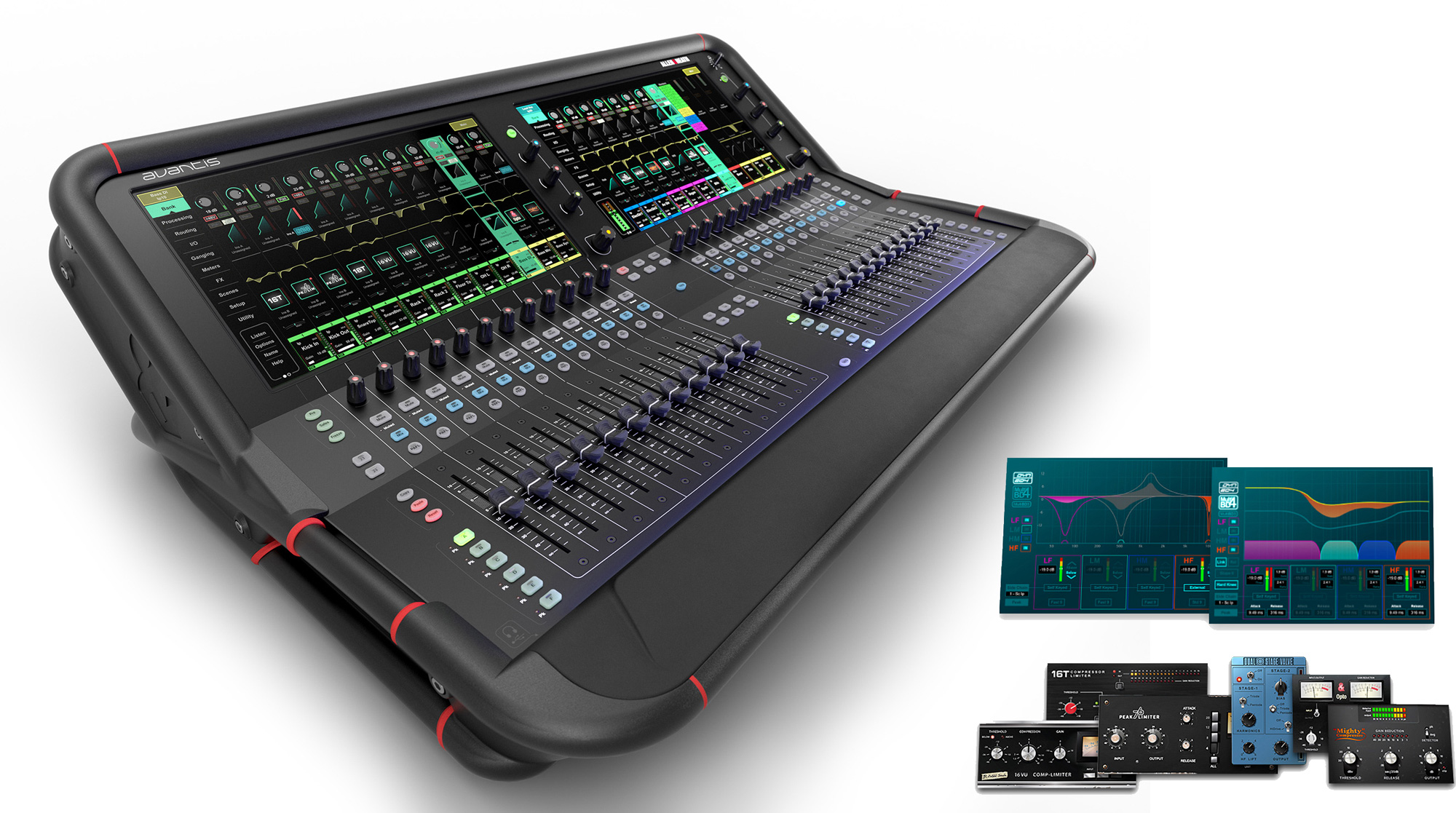 Allen & Heath AVANTIS 64 Channel - 42 Bus - Dual Full HD Touchscreens - 96kHz Digital Mixer - D Pack Included AH-AVANTIS-W-DPACK