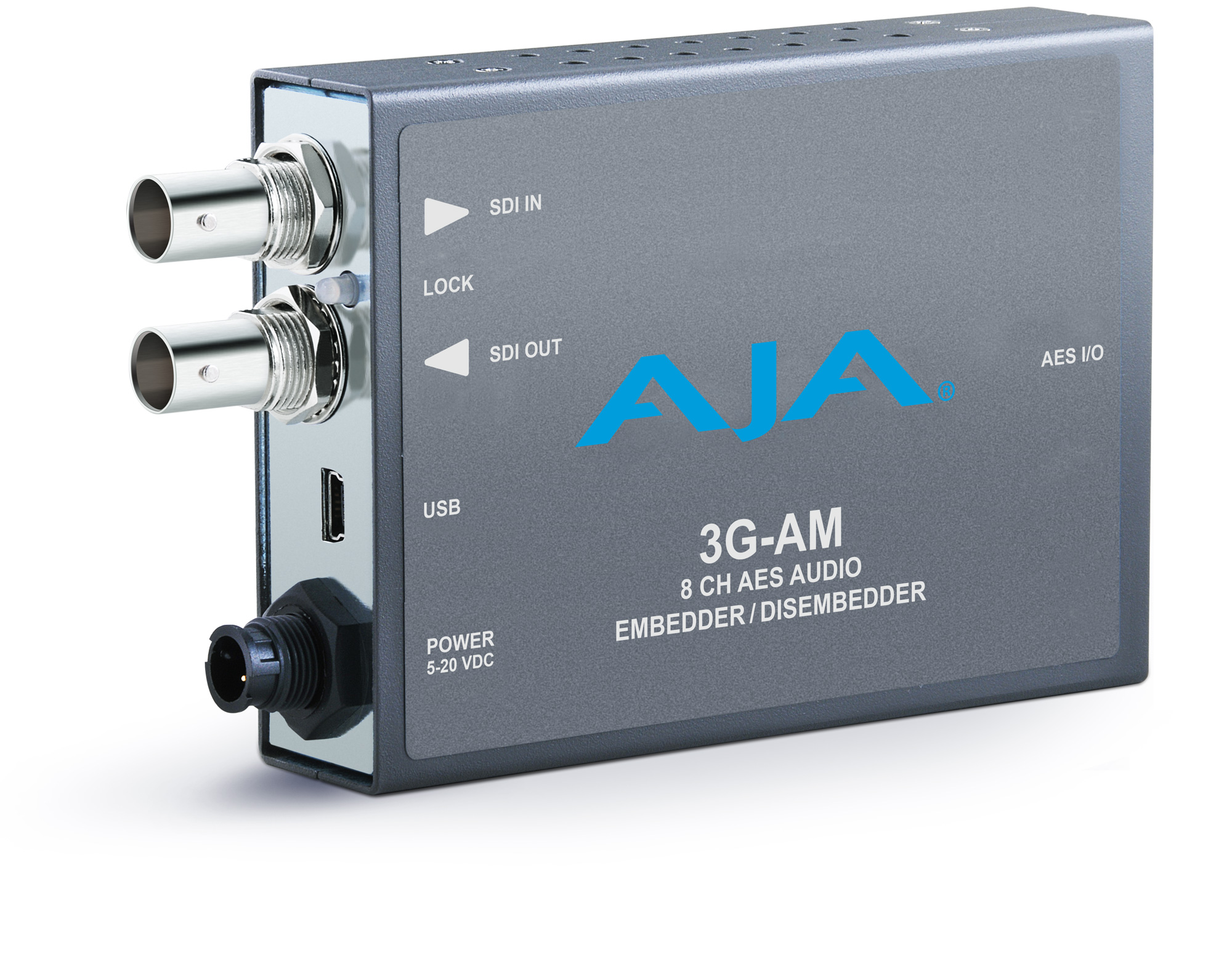 AJA 3G-AM-BNC 3G-SDI 8-Channel AES Embedder/Disembedder with BNC Breakout Cable 3G-AM-BNC