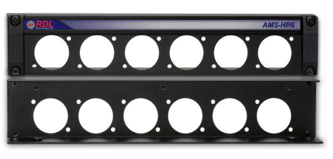 RDL AMS-HR6 Mounting Panel for 6 AMS Accessories AMS-HR6