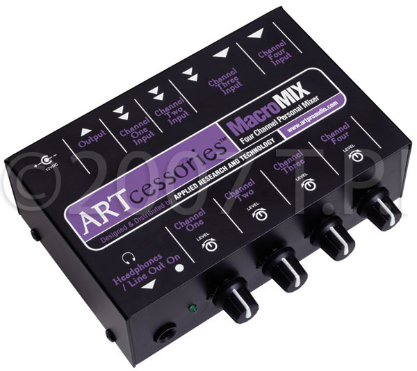 ART-MACMIX 4 Channel Line Level Unbalanced Audio Mixer ART-MACMIX