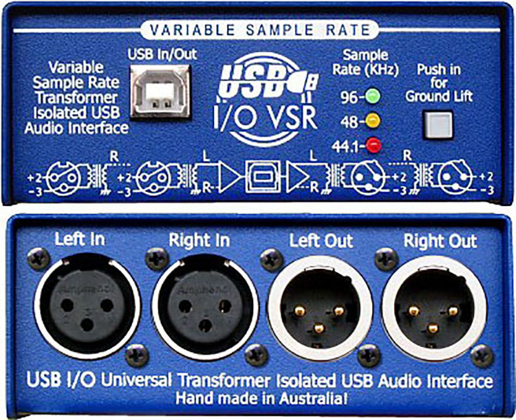 ARX USB-3 Audibox USB I/O Balanced Stereo XLR Inputs & Outputs USB DI Box ARX-USB-3