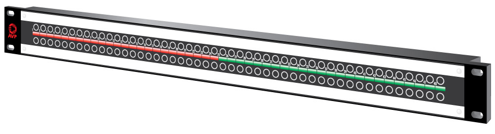 48-Point 1.5RU 3GHz MicroSize Dual Jack HD Patchbay Non-Normaled