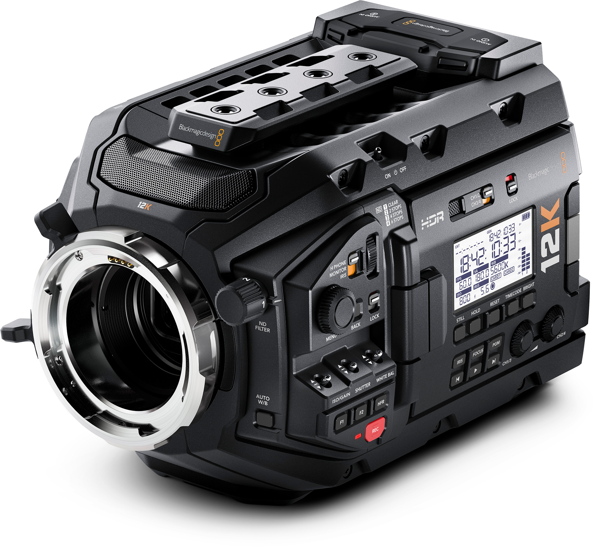 Blackmagic Design BMD-CINEURSAMUPRO12K Blackmagic URSA Mini Pro 12K w/ PL Lens Mount BMD-CINEURSAMUPR