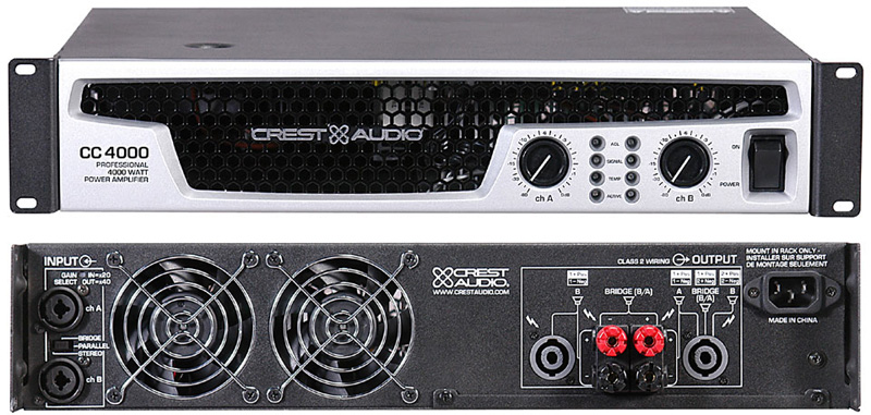 Crest Audio CC Series Amplifiers CC2800 CC2800