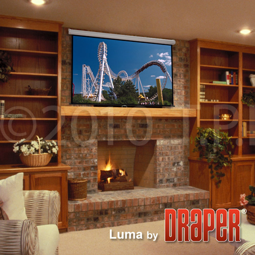 Draper 207100 45x80 Inch 16:9 HDTV Format Matt White Luma Screen