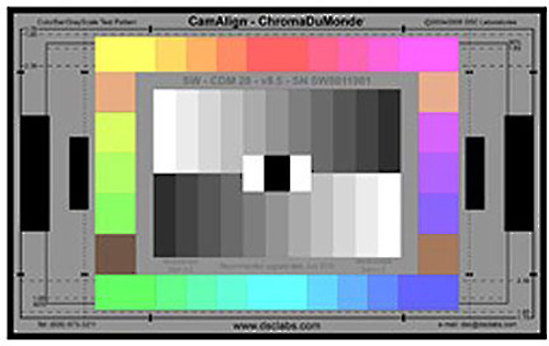 DSC XW19-CDM28 ChromaDuMonde 28 Maxi CamAlign Chip Chart - Includes Metal Mounting Framing MaxiTilt Mounting Post DSCL-XW19-CDM28