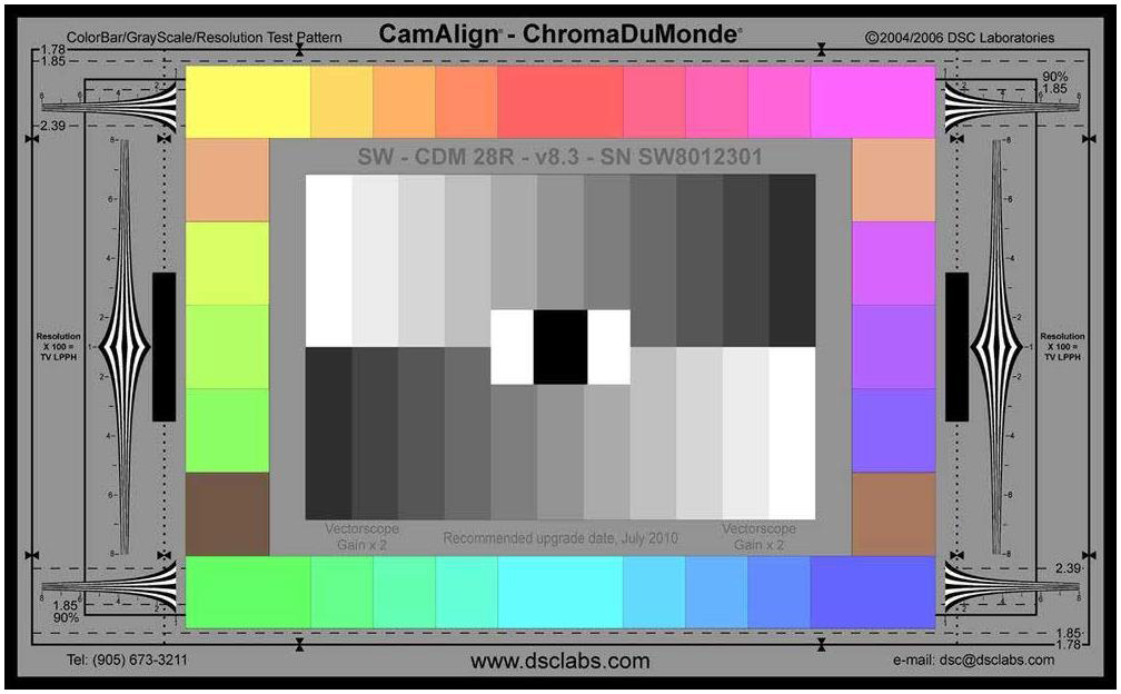 DSC Labs XW23-CDM28R ChromaDuMonde 28 with Resolution Maxi CamAlign Chip Chart & 2 Year Veritas Subscription XW23-CDM28R
