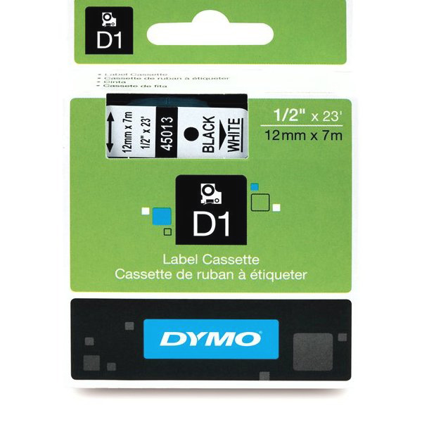 Dymo 3/4inx23ft Black on Clear Tape DYMO-202