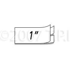RHINO 1 inch White Permanent Poly Labels DYMO-1734523