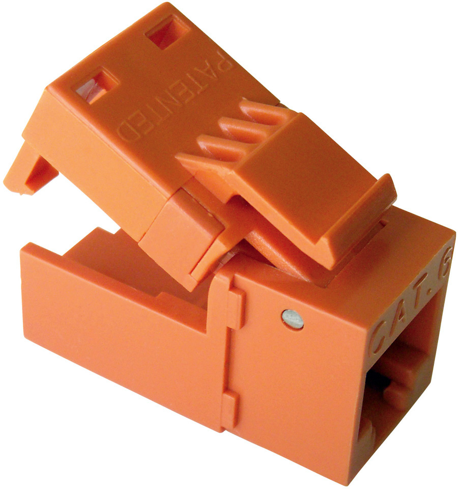 Platinum Tools EZ-SnapJack Cat6 (Orange) EZSJ-706-OE