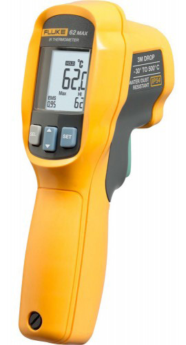Fluke 62MAX Infrared Thermometer - -22-932 Degree Range - 10/1 Ratio 62MAX