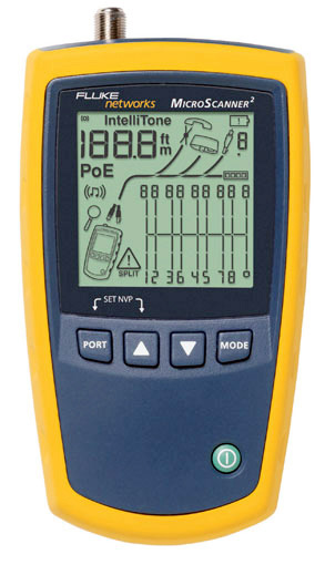 Fluke Networks MS2-100 MicroScanner2 Cable Verifier FLK-MS2-100