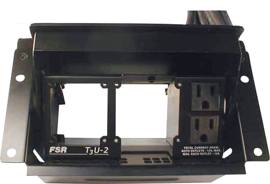 FSR T3U-2-RCP Right Blank Pass Through for 2 Cables FSR-T3U-2-RCP