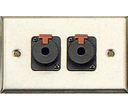 Contractor Series Wall Plate with 2 Latching 1/4 Inch Jacks GP-WPL1112