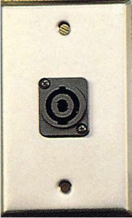 Contractor Series Wall Plate with 1 Speakon Connector GP-WPL1123