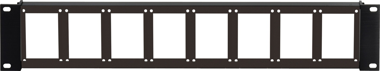 Camplex 90 Degree (Flat Front) 8-Position 2RU Empty Rack Frame