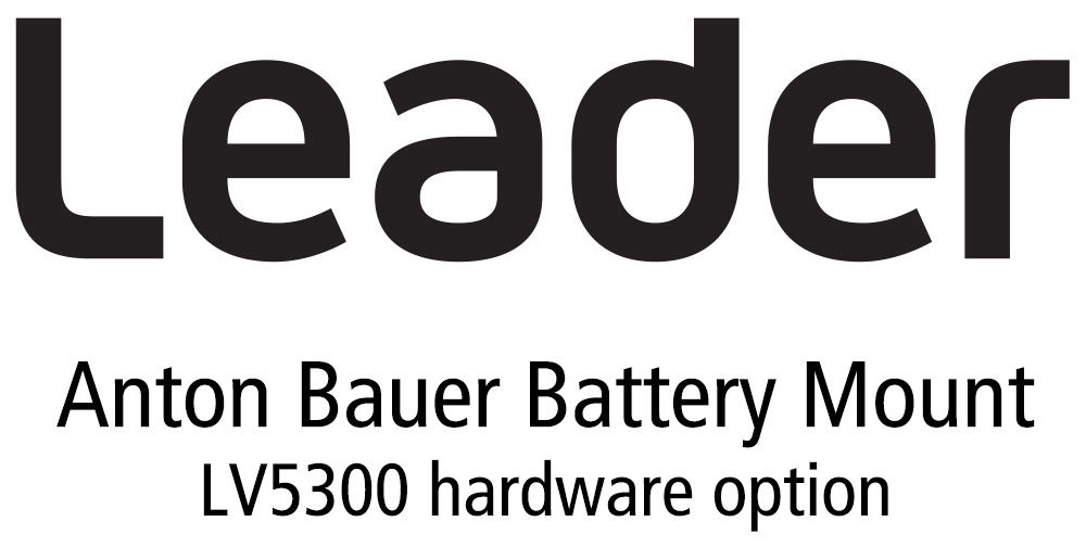 Leader LV5300-SER12 Anton Bauer Battery Gold Mount for LV5300 (hardware) LR-LV5300-SER12