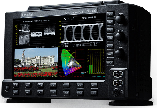 Leader LV5300 7-inch Full HD Waveform Monitor with Touch Panel & SDI Inputs - SD-SDI/HD-SDI/3G-SDI & 12G-SDI Single Link LR-LV5300