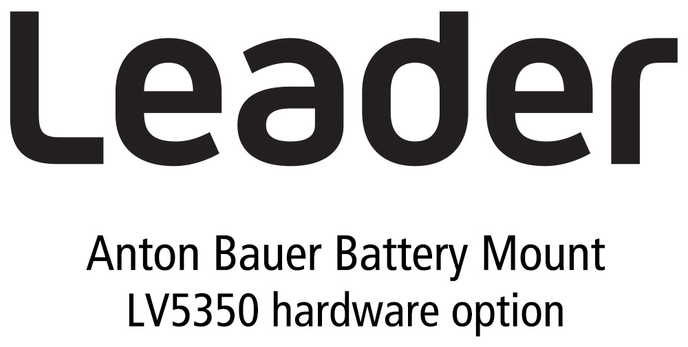 Leader LV5350-SER12 Anton Bauer Battery Gold Mount for LV5350 for LV5350 (hardware) LR-LV5350-SER12