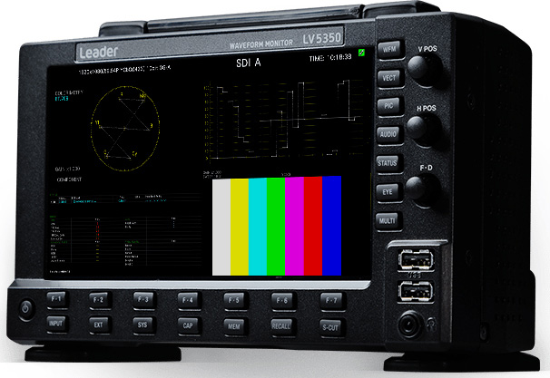 Leader LV5350 Waveform Monitor with SDI Inputs (2) LV5350 LR-LV5350