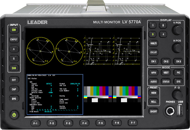 Leader LV5770SER03A Composite Analog Inputs with Switched Monitor Output for LV5770A LR-LV5770SER03A