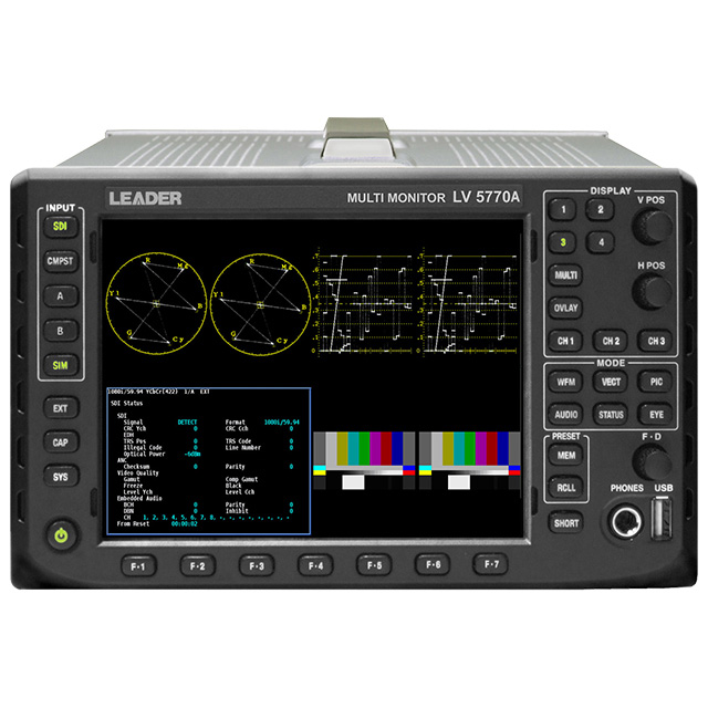 Leader LV5770SER41 Digital Audio Option Provides 16 Channels AES/EBU I/O for LV5770A  LV5770SER41