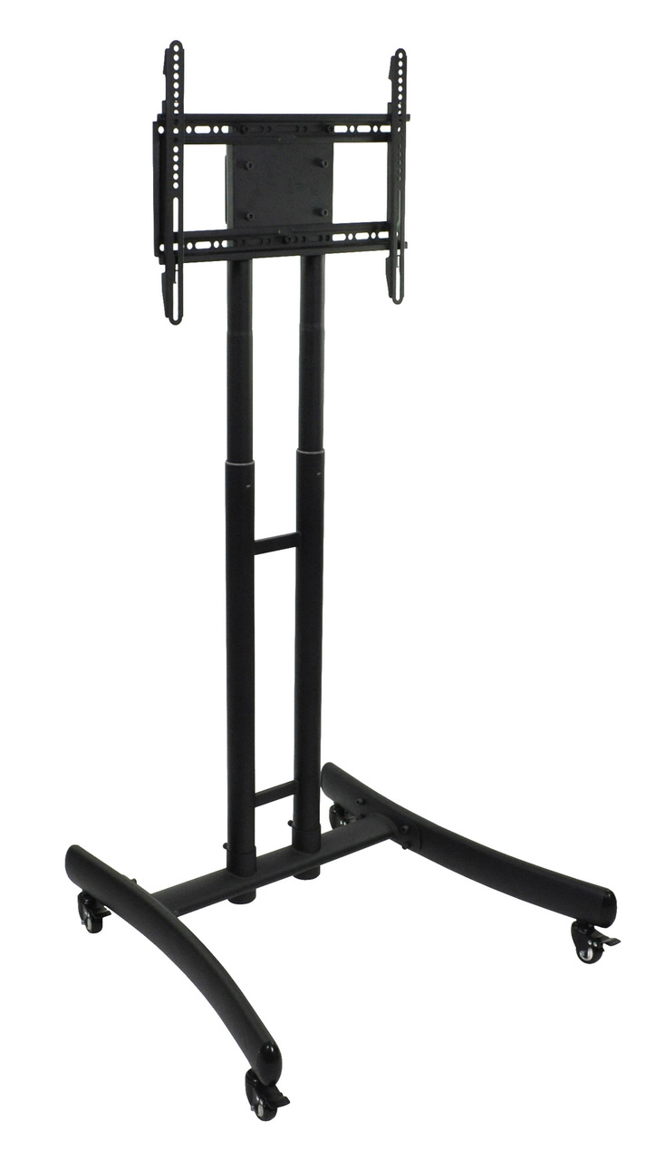 Luxor FP1000 Height Adjustable Rolling TV Stand LUX-FP1000