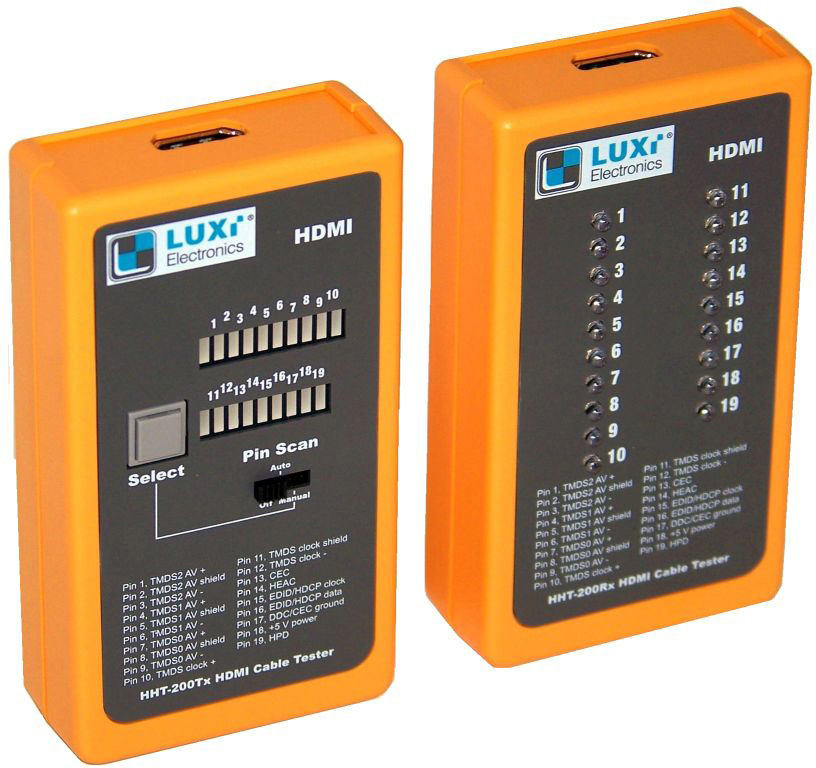Luxi HHT-200 HDMI Hand Held Tester with Open and Short Test One 9 V Battery Not Included HHT-200