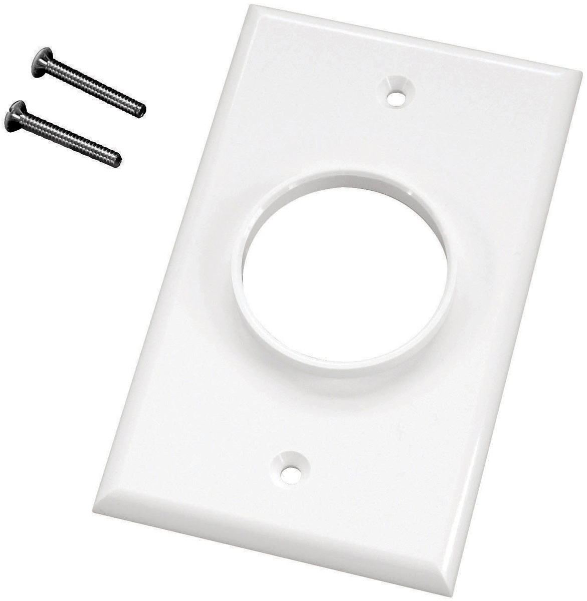 Single Gang White Wireport Cable Pass Through Plate MID-1GWH