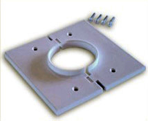 Double Gang Brown Split-Port Cable Pass Through Plate MID-2GSPBN