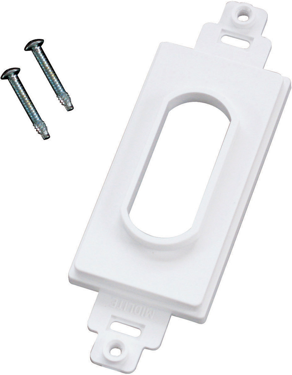 Single Gang White Wireport Decora Plate Cover MID-DC1WH
