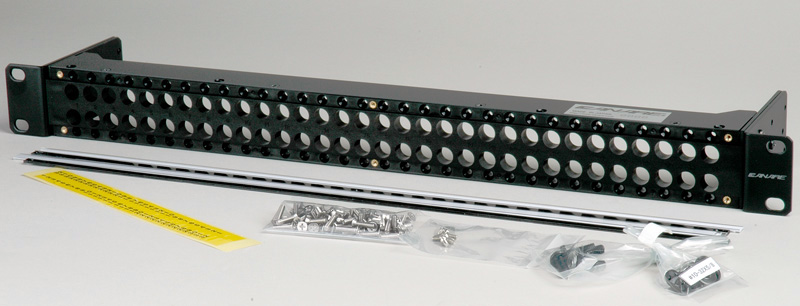 Canare MJ2-M32-1U-BLK 2x32 1 RU Unloaded Patch Panel with Jack Mount S