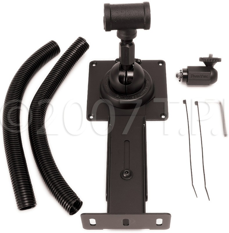 Videoconferencing Flat Screen Pipe Mount With Built-In Camera Mount Fo