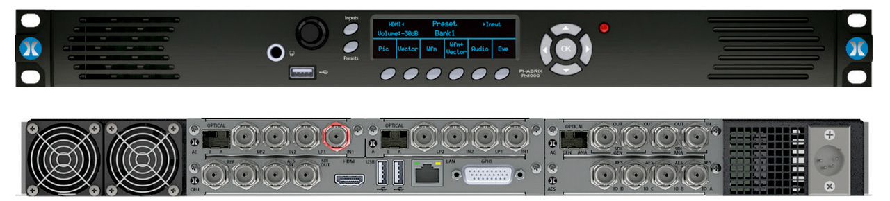 Phabrix PHRX1000A Rx 1U 19 Inch Rack Mount Chassis - HD/SD-SDI Base Unit with CPU Module Includes Analyzer Module PHRX1000A
