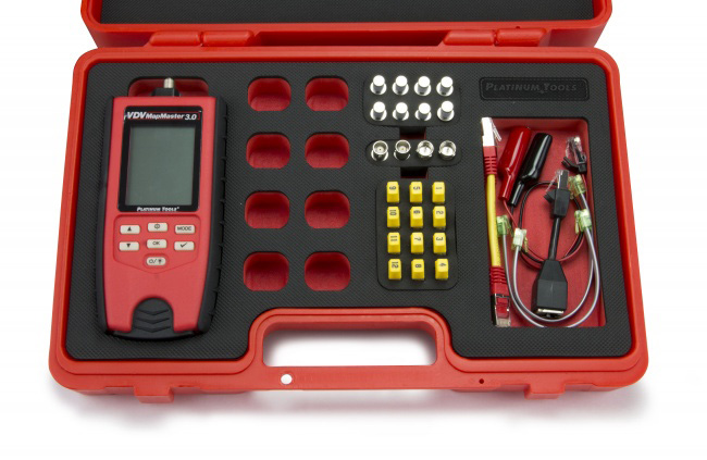 Platinum Tools T130K4 VDV MapMaster 3.0 Network & Coax Cable Field Tester Kit  T130K4