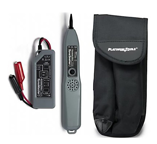Platinum Tools TG210K1 Professional Tone and Probe Kit - Alligator Clips with Belt Pouch  TG210K1