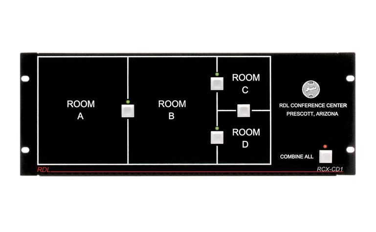 RDL RCX-CD1 Remote Control for RCX-5C Room Combiner RCX-CD1