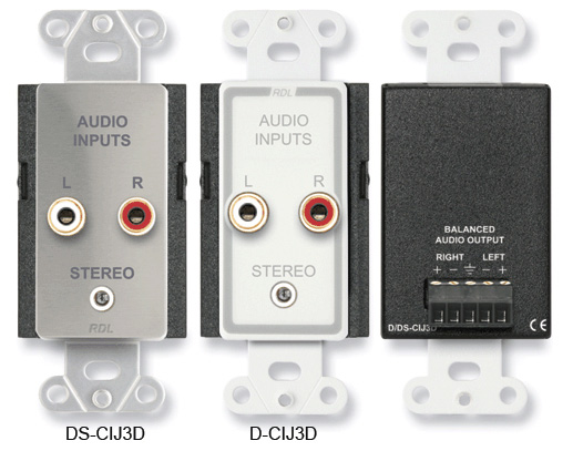 Radio Design Labs DS-CIJ3D Consumer Input Jacks - Stereo - Stainless S