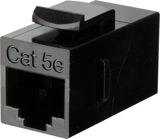 TecNec CAT-5e RJ45 8 Conductor Modular Keystone Mountable F-F Feedthru