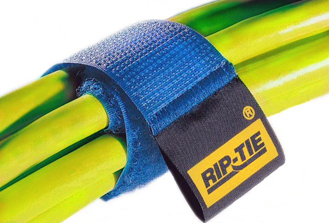 Rip-Tie CableWrap 1x3 Grey 10 Pack RT3-10 GY