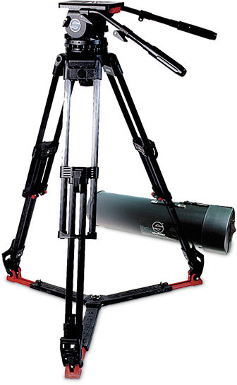 Sachtler 2512 Video 25 Carbon Fiber with Fluid Head / EFP 2 CF Tripod / Ground Spreader & Cover 2512