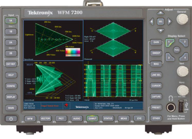 Tektronix WFM7200-3G Simultaneous Monitoring of HD/SD-SDI Inputs and CPS Inputs - Option SIM - for TEK-WFM7200 TEK-WFM7200-3G