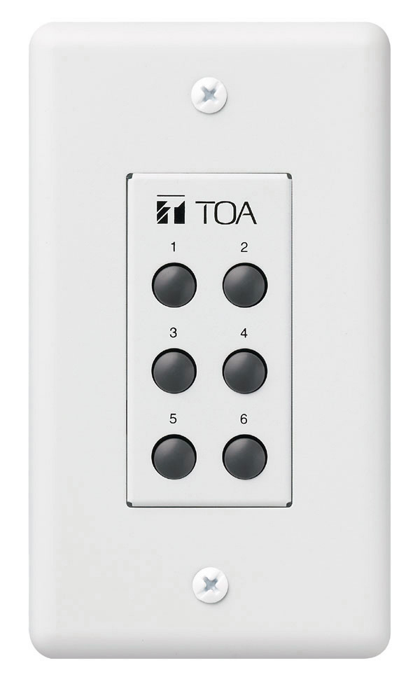 TOA ZM-9001 9000/9000M2 Remote Panel 6-Switches TOA-ZM-9001