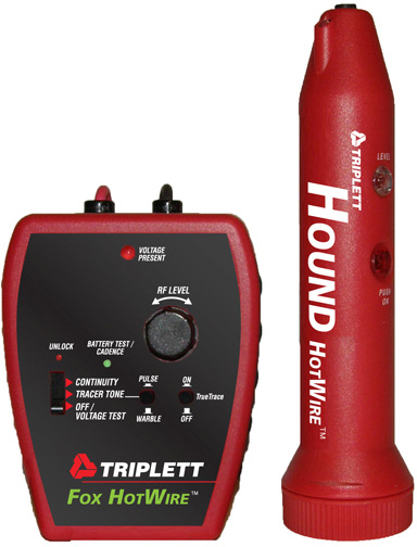 Triplett 3388 Fox & Hound Hotwire Live Wire Tone and Probe Kit 3388