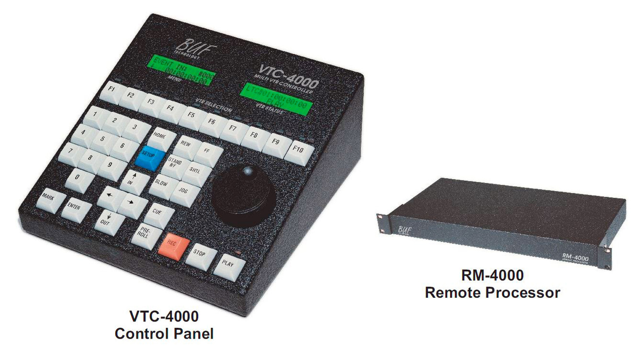 Buf VTC-4000-BC/RM-4000 VTC-4000-BC/RM-4000 Multiple VTR/DDR Controlle