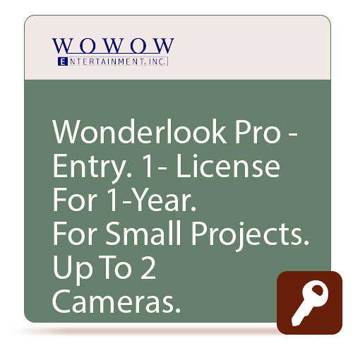 Wowow ISL-701 WonderLook Pro ENTRY One Year License - 2 Devices 3 Cameras WOW-ISL-701