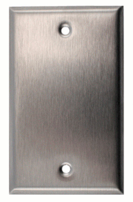 Blank Single Gang Black Anodized Aluminum Wall Plate