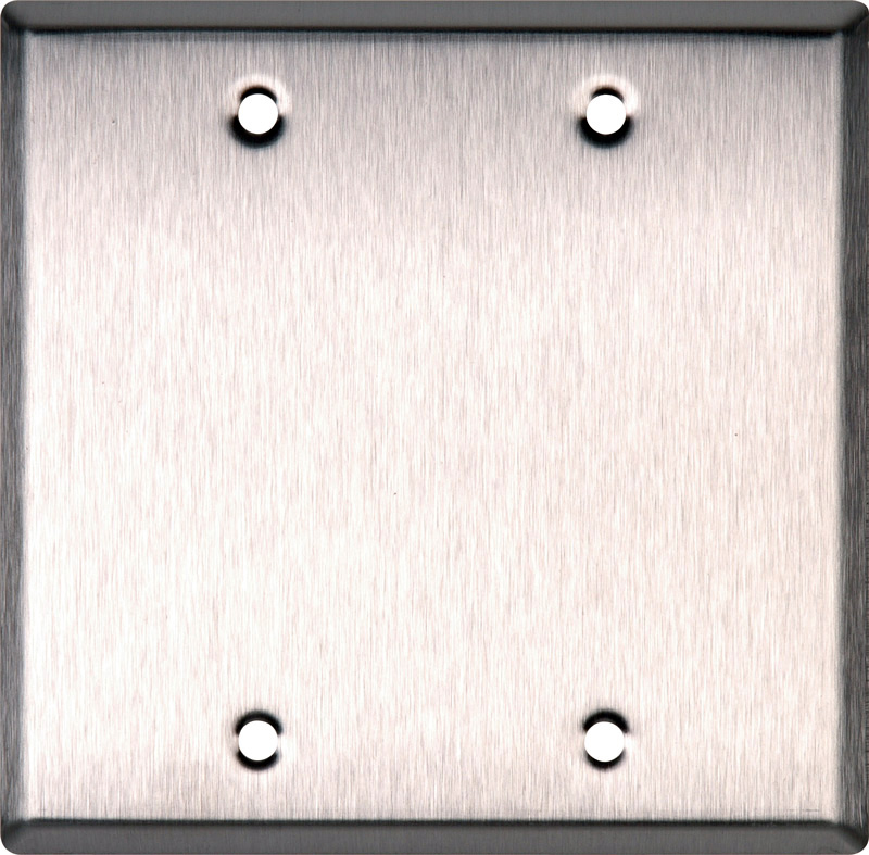 Blank Stainless Steel Double Gang Wall Plate WP2000